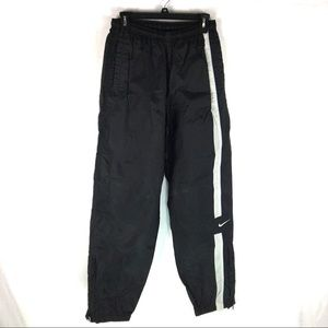 Nike Mens Track Nylon Pants Size Medium Black